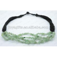 Collier de pierres précieuses à perles d'aventurine verte