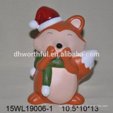 Ceramic toy of fox for home decoration