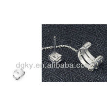 Bijoux en cuir de chaîne à oreille indienne chirurgicale en acier chirurgical