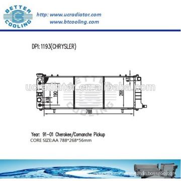All Aluminum Radiator For CHRYSLER 52079682AE 91-01 Cherokee/Comanche Pickup