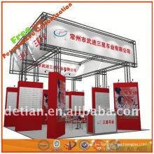 Exhibición atractiva amarilla de la exhibición del producto de la exposición para negociar de Shangai