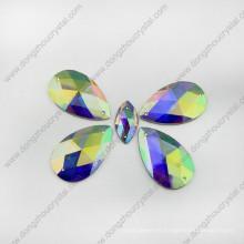Drop Water Ab Color Crystal Stone (con dos agujeros)