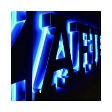 Customized 3D Backlit Letters Signage Exterior Lighted Letter Signs Illuminated LED Backlit Business Signs