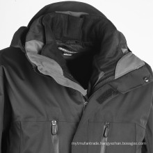 Tactical Coat Two-Layer Waterproof Windproof Breathable Parkas Jacket
