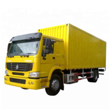 Chinese Howo reefer Cold Box van Truck for milk/seafood /meat delivery to Africa