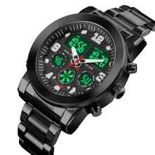 SKMEI 1642 Men Alloy Sport Watch Water Resistant Stainless Steel Back Analog and Digital Watch