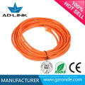 Câble de réseau Ethernet LAN 24 awg 5.0PVC mâle à mâle câble cat5e cuivre nu