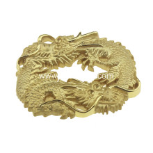 round shape gold plating belt buckle