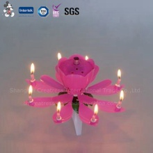 Lotus Birthday Candle with Music