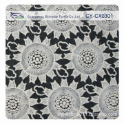 Cotton Embroidery Organza Embroidery Lace Fabric for Garment (CY-CX0301)