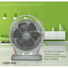 14 polegadas portátil oscilante ventilador da caixa (USBF-830)