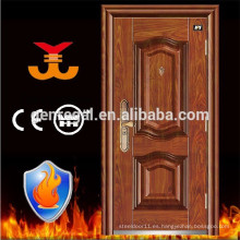 BS 476 / ISO / 3C aprobó la puerta clasificada fuego del apartamento de acero para la entrada