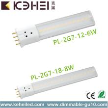 2G7 6W LED-buizen 360D 4-pins CFL