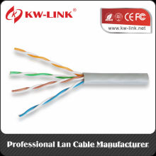 UTP 24awg cobre BC Cat5e cable sólido para interiores CM Rated