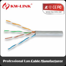 UTP 24awg copper BC Cat5e indoor solid bulk cable CM Rated