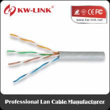 UTP 24awg медный BC Cat5e закрытый массивный кабельный кабель CM Rated
