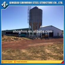Estrutura de aço de baixo custo Casa de aves de capoeira Projeto de construção de fazenda de frango