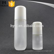 белый оптовый пустой круглый стеклянный лосьон для тела бутылки