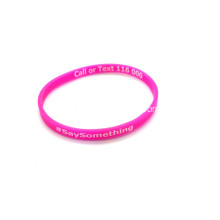 Promotional 1/4 Printed Silicone Wristbands