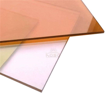 Feuille de polycarbonate solide en relief Sun de revtement uv