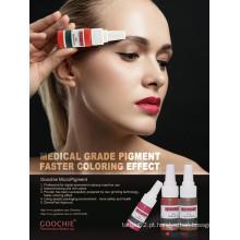 Goochie Pure Plant Material Teste Derma Sobrancelha Lábios Maquiagem Tinta