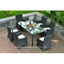 Stunning 7 Pieces Outdoor Rattan Garden Dining Set (OT19)