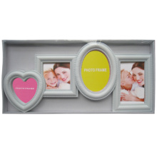 New Style White Heart Round Collage Frame