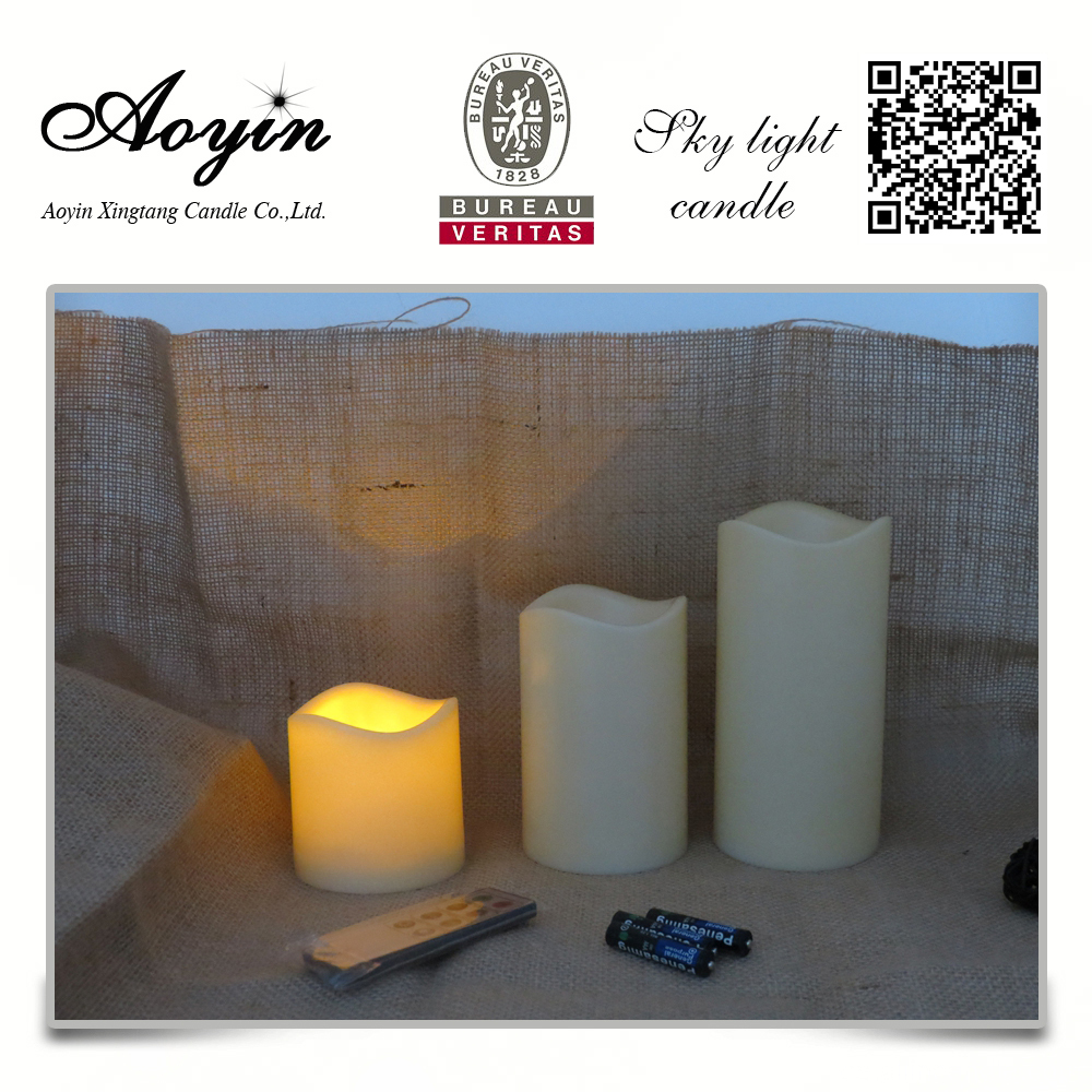 Led velas de cambio de color con mando a distancia.