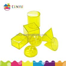 Plastik Montessori Manipulative / 3D Geometrische Figuren (K027)
