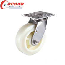 100mm Heavy Duty Rotating Castor with Nylon Wheel (stainless steel)