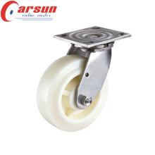 100мм сверхмощный вращающийся ролик с нейлон колесо (нержавеющая сталь)