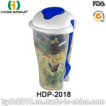 Wholesale to Go Salad Shaker Container with Fork (HDP-2018)