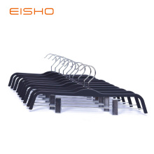 Rubber Coated Clothing Hanger With Clamps