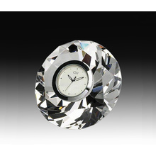 Crystal diamond clock