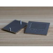 Nouveau produit étiquette personnalisée de logo de marque de métal pour vêtements