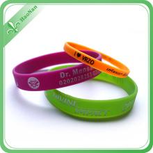 Eco-Friendly Custom Debossed Ink Silicone Wristband