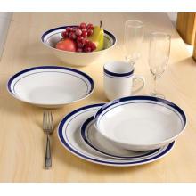 Tasse de porcelaine dîner assiette bol mettre
