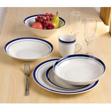 Conjunto de caneca de tigela de placa de jantar de porcelana