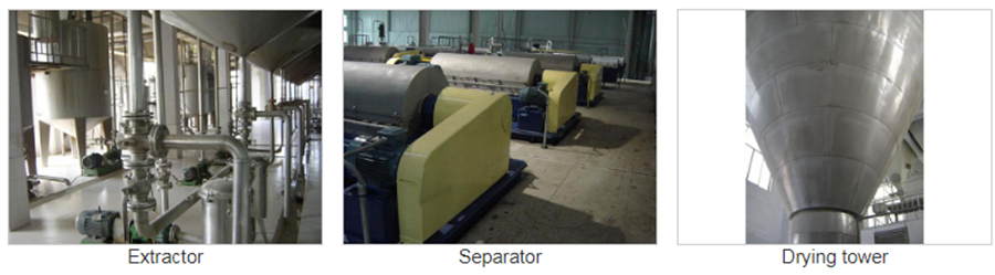 Extractor, Separator, Drying Tower