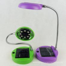 As vendas quentes conduziram a luz solar portátil da tabela / a lâmpada do usb da leitura
