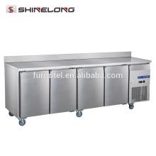 FRUC-6-1 FURNOTEL 4 Türen Kühlschrank Gefrierschrank Untertischkühler mit Backsplash
