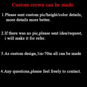 Crystal Rhinestone Custom Pageant Crowns