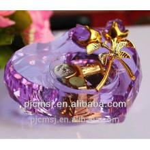Venda quente em forma de coração instrumento de música de cristal para o presente favores CM-012