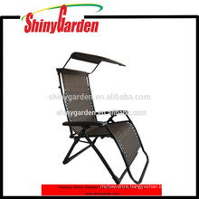 Zero Gravity Canopy Sunshade Lounge Garden Chair
