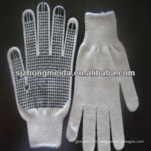 cotton knitted gloves with pvc dots