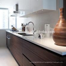 """Parte superior branca da cozinha da pedra de quartzo, 3/4 """"bancada de quartzo de Thickn"""
