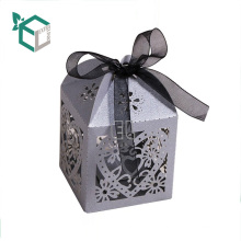 Laser Cut Paper Wedding Custom Logo Favor Chocolate Candy Box with Handle