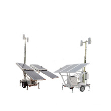 SWT 6.2M Electric Lifting Mast Mobile Solar Led Tower Light 4x150W New Energy Factory Price
