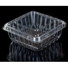 Caja de embalaje de plástico con arándanos y frutas