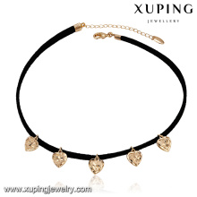 43685 bijoux de mode 2017 en gros china 18 k simple coeur pendentif en or plaqué collier tour de cou